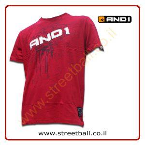 חולצת טי-שירט אנד1 אדום – AND1 T-Shirt